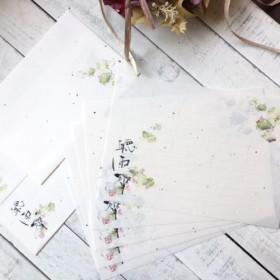 蓮のお手紙(和紙のレターセット)