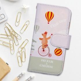 送料無料 全機種対応☆手帳型スマホケース・カバー iPhone11 サーカスがやってくる! おしゃれ