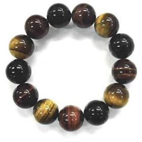 天然石 3色タイガーアイ16mm玉ブレスレット 内周:約18.3cm 160720276