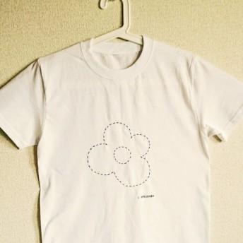 【R Stilzchen- お花 -】Tシャツ *シンプル 白黒 *