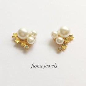 流れ星pierced earring