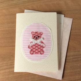 オーダーメイドのカード★ベビーくまさん★ピンク【5】