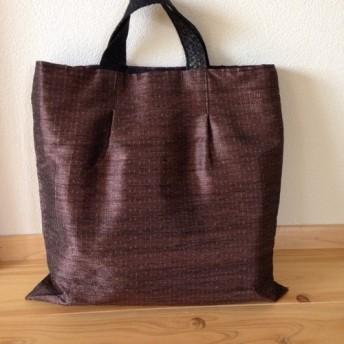 大島紬糸で織ったバック