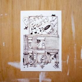 ポストカード150「(19)Party Party」4枚セット