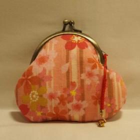 桜の和柄がま口財布(ピンク)