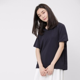 French terry Relaxed Raglan Top / Navy Project 007