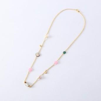 【送料無料 定形外郵便】ベネチアングラスと天然石の可愛いネックレス。
