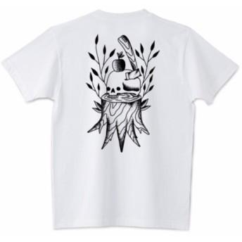 SKULL TREE バックプリント Tシャツ レトロ ヴィンテージ クラシック