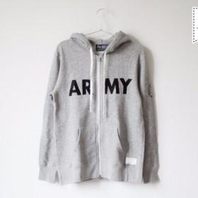 パーカー ARMY (ヴィンテージヘザーグレー) Mサイズ