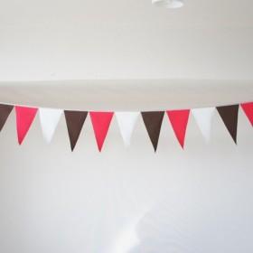 布ガーランド 290cm フラッグ 旗 結婚式 誕生日 パーティー キャンプ 飾り 店舗装飾 ピンクブラウン