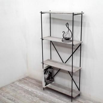 アイアン直棚、h120cm,w60cm、棚板4段(グレー)受注生産品