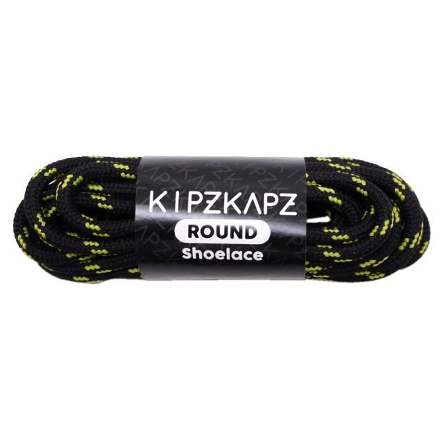 KipzKapz RS5 Black Yellow 115cm / 140cm / 160cm - Tali Sepatu Bulat / Round Shoelace: Rp 28.000