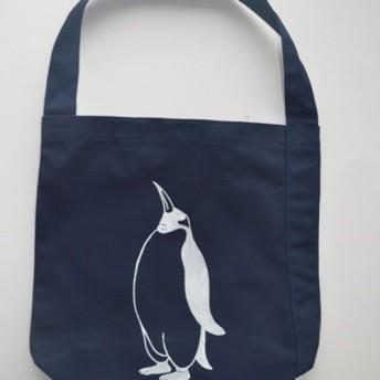ペンギン へヴィーキャンバス ワンショルダーバック ネイビー