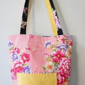 カラフルでcawaii♪台湾花布のリバーシブルトートバッグ