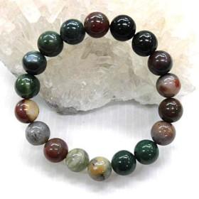 天然石 インディアアゲート10mm玉ブレスレット 内周:約16.3cm 16072020