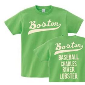 【再販】ボストン フォント【両面】 150.160.(女性M.L) S XL Tシャツ【受注生産品】