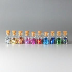 小瓶10色セット(六角ホログラム2mm)★レジン&ネイルに使える封入素材