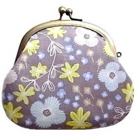 【受注制作品】がまぐち財布『Floral Grey』