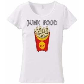 [レディースTシャツ] skull French fries 2