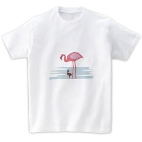 動物Tシャツ-フラミンゴ