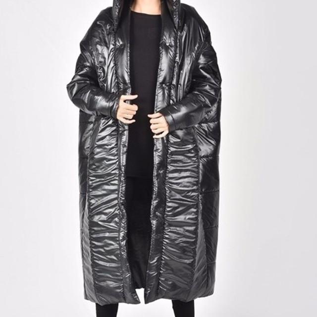 オーバーサイズ キルティング コート アウター ブラック【Aakashaアーカシャ】【サイズのカスタムオーダーメイド可】