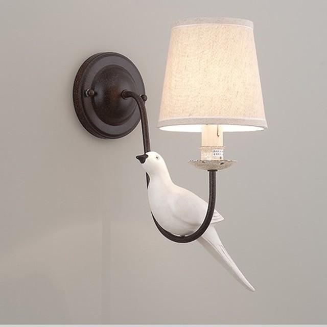 国の風の鳥の装飾布ランプシェードシングルランプウォールランプ - LS - 8091 - 2