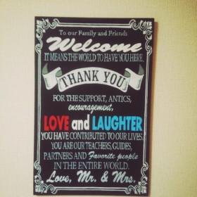 ウェルカムボード 黒板 チョークボード 結婚式