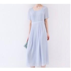★SALE★【S】刺繍入りタック半袖ロングワンピース♪