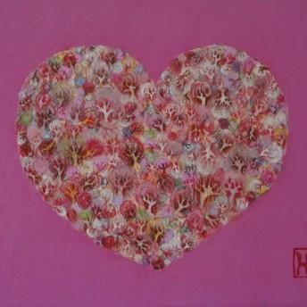ハートノモリ-pink 日本画collection