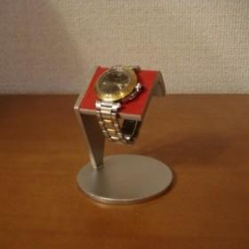 ウォッチスタンド レッド一本掛け腕時計スタンド アングル ak-design