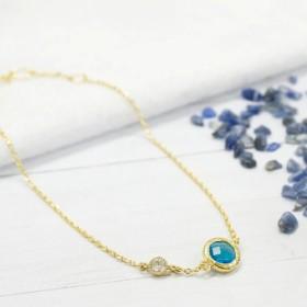 CABRIフラッシュダイヤモンドのブレスレットアクアマリン