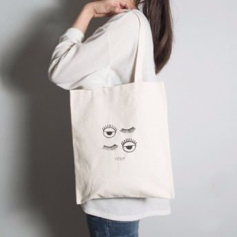 塗らグレー布バッグ指紋9オンス] [あなたは、両面のパターンの手/肩