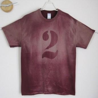 オリジナル完全1点物 ナンバーTシャツ 2 男前/レディース/メンズ/子供/レア/海/サマー/ミリタリー/ワイン/夏
