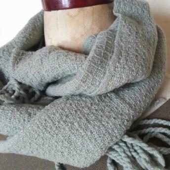 手織りカシミヤワッフル織りマフラー 297
