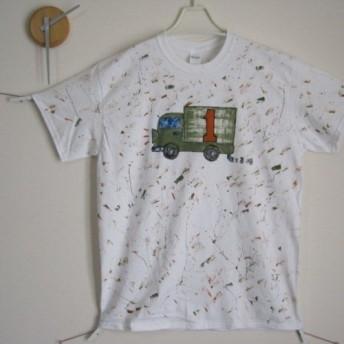 オリジナル完全1点物 ナンバーTシャツ*デリバリー1 男前/レディース/メンズ/子供/カワイイ/カッコイイ/秋色/紅葉