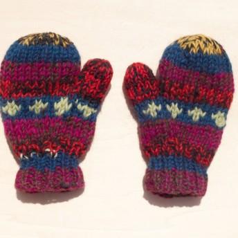 東欧ディザグラデーションストライプ - 子供/子供の手袋のためのニットピュアウール暖かい手袋/手袋を限ら/手袋/ミトンニット/手