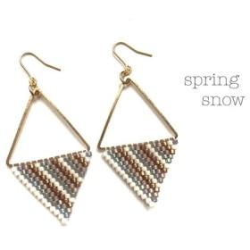 再販6 △triangle × earrings△(beige)