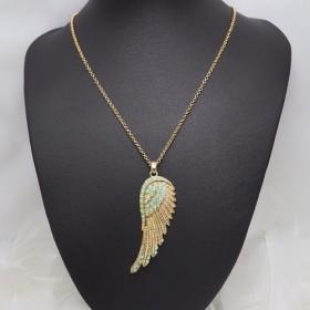 Angel wing ネックレス green