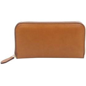 経年変化が楽しめる 牛革 イタリアンレザー バケッタ800(ブラウン)本革 ラウンドファスナー 長財布