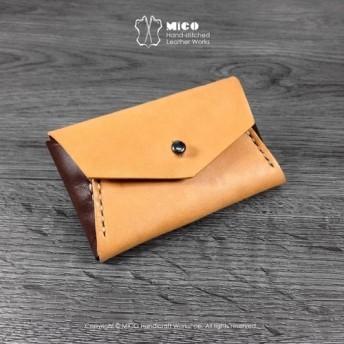 MICOエンベロープ小さなクレジットカード財布スリーブ/水泳カードセット/カードホルダー/財布/財布(浅いフォーカス茶の茶の戦い