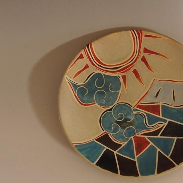 琳派 富士山と太陽のお皿