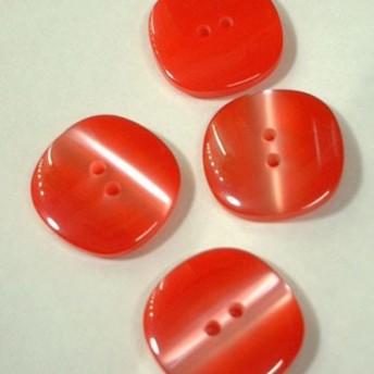猫目 レッド ヴィンテージボタン 20mm 1個(日本製デッドストック)Nr. rb036