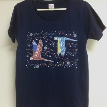 コンゴウインコTシャツ/鳥・インコ