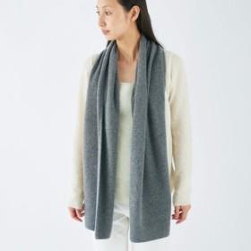【送料無料】enrica cashmere & wool muffler / darkgray