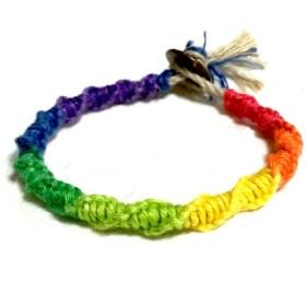 虹色ミサンガ ボタンタイプ