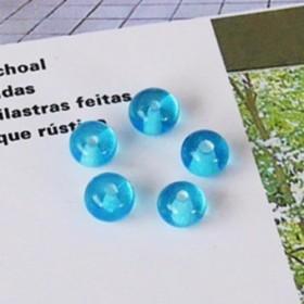 ガラス細工・ビーズ 5個セット (水色の小玉) 【定番ビーズ】