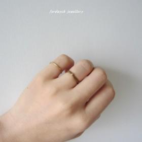 【knit ring】14kgf&ブロンズ