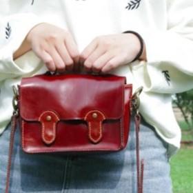 [春]の衣装オイルワックス手縫いのレザーミニメッセンジャーバッグショルダーバッグバックパックケンブリッジ旅行 小さな芸術レコード