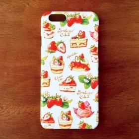 StrawberryCakesハードスマホケース(iPhone/Android対応多数。機種名ご記入ください。)