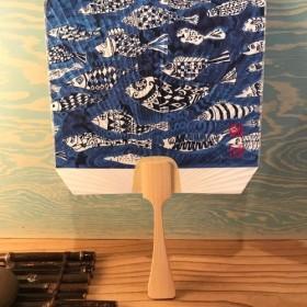 オリジナルアート団扇「 魚 」 Original Art Fan FISH